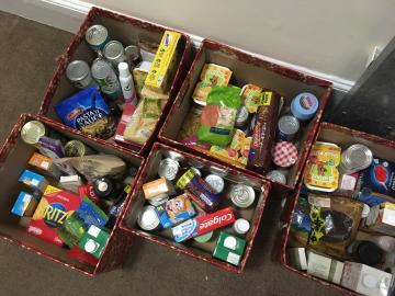 food bank collection  christmas boxes december